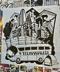 Tech Privilege, San Francisco, CA (Robby Virus) Tags: sanfrancisco california sf ca tech privilege techprivilege paste pasted paper pasteup wheatpaste bus google access denied techies