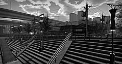 Late Spring (Loegan Magic) Tags: secondlife landscape urbanscape japan sky clouds buildings bridges stairs powerlines