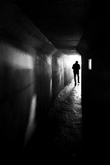(cherco) Tags: tunnel solitario solitary silhouette silueta shadow sombra street shadows solo lonely light luz man markiii misterio mystery urban city ciudad tunel blackandwhite blancoynegro black salida exit loneliness architecture arquitectura perspectiva perspective bunker japan window wet