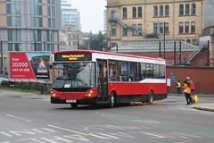 McAllister-Partridge (M P Travel), Warrington AE08 DKU (SelmerOrSelnec) Tags: mcallisterpartridge mptravel warrington alexanderdennis enviro200 mcv ae08dku railreplacement smithandlewisprenton avonbuses bus manchester corporationstreet