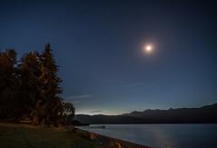 Te Anau evening (OzzRod (on the wallaby)) Tags: pentax k1 irix15mmf24 52project2018 nightsky moon stars teanau newzealand
