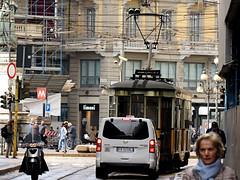 Milan (Dan_DC) Tags: milan italy street woman person streetcar streetlife