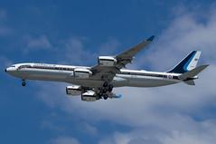 Royal Thai Airforce A340-541 HS-TYV | Brisbane | BNE | YBBN | (brissypete) Tags: airportsbrisbanebneybbn aircrafttypea340 a340500