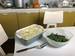 Mashed potatoes and green beans (Foxy Belle) Tags: doll dollhouse miniature food thanksgiving potatoes mashed kitchen diorama 16 scale barbie