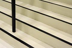 White steps, black stripes (Jan van der Wolf) Tags: map191141v staircase steps treden stairway trap bar stang geometric geometry lines interplayoflines playoflines lijnen lijnenspel stairs kunsthal rotterdam