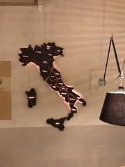 ITALY wall decoration (STYKKA & COTTER) Tags: italy stykka lasercutting laser mdf walldecor walldecoration restaurant light cotter copenhagen horesta borgergade