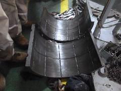 Resize of P1360516 (OpalStream) Tags: rudder marine vessel repair works overhauling workshop measurements filler gauge dirt