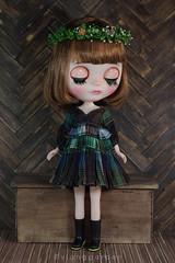 Ruffle Vintage Dress (Ylang Garden) Tags: blythe momoko patchwork stripe mori