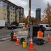 Signal team making repairs to signal at Denny and Aurora November 6th. Private construction work severed power and and communication equipment.