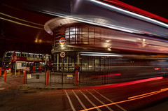Catching A Bus (NoVice87) Tags: night lowlight lighttrails bus station walthamstow london tripod
