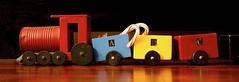 Antique Folk Art Train (redhorse5.0) Tags: toytrain christmasdecoration folkart locomotive redhorse50 sonya850 christmas candycane woodentoytrain