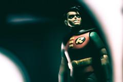 Boy Wonder (3rd-Rate Photography) Tags: robin dickgrayson batman batmantheanimatedseries toy toyphotography actionfigure superhero dccomics canon nikon lenswhacking freelensing lightleak jacksonville florida 3rdratephotography earlware 365 50mm 5dmarkiii