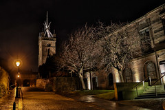 Linlithgow (xDigital-Dreamsx) Tags: historic church night town street scotland queen scots mary cobbles architecture