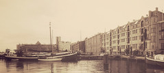 Oude houthaven (alowlandr) Tags: amsterdam noordholland netherlands nl houthaven architecture city water europe travel sepia ship boat harbour historical