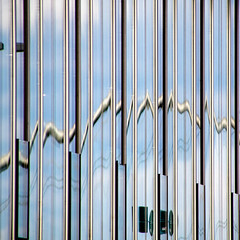 zigzag (morbs06) Tags: düsseldorf hafen abstract architecture building city cladding clouds colour distortion facade light lines pattern reflections repetition sky square stripes windows