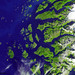 The Arctic Circle cuts through the western coast of Norway and the Saltfjellet-Svartisen National Park. Original from NASA. Digitally enhanced by rawpixel.