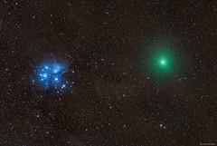 Comet 46P/Wirtanen close to the Pleiades (Martin_Heigan) Tags: comet46p wirtanen pleiades m45 starcluster sevensisters messier45 200500mm nikon nikkor astronomy astrophotography dslrastrophotography lensastrophotography celestronavx nikonastrophotography southernhemisphere photography mhastrophoto december2018 southafrica widefield dslr christmascomet brightestcometin2018 decembercomet stars universe cosmos comet greencoma science physics astrophysics nightsky amateurastronomy d750 gasanddust weather clearskies deepsky komeet sterrekunde fisika spectrum light cometcoma greencomet thesevensisters interstellardustclouds explore flickrexplore colorsoftheuniverse coloursoftheuniverse deepspacecolors deepspacecolours deepskyobject astrometrydotnet:id=nova3108220 astrometrydotnet:status=solved starstuff mheiganmostviewedphotos seaofstars bestof2018 mostpopularphototsof2018 comet2018 astronomy2018 astrophotography2018 science2018 colorinspace elements backyardastronomy greenglow orb grinch martinheigan
