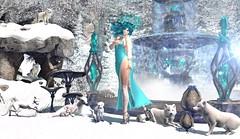 I feel so cold (Varosh Santanamiguel) Tags: tmcreation tm animal foxes wolf snow winter fantasy elf magic magical ice queen cold nature cc tlg thelookingglass swank event eventexclusive events hunt huntgift gift innerdemons {id} snowflake avatar mesh bento cj {acios} new newrelease crown gown cerridwens cauldron cerridwenscauldron 7ds 7deadlyskins skins juna maitreya areiyon vsm gaeg