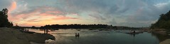 Belle Isle (rachelkidwell93) Tags: sunset panorama landscape sky clouds nature hike camp water reflection