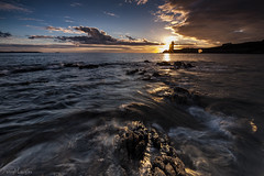Beam of light (Traezh) Tags: lighthouse littoral light rade breizh bretagne brittany brest petitminou phare marée water eau wave sea seascape poselongue rochers rivage rocks reflets sunset sun soleil plouzané