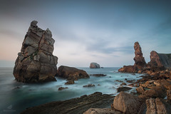 The Reason (MANUELup) Tags: losurros coastline horizonoverwater seascape coast shore sea rockycoastline cantabria spain liencres sky cloudy water waterscape longexposure blue orange brown green strong quiet calm peaceful nature light naturallight naturalworld cliff watersedge