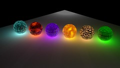 Magic Orbs (Ether Penguin) Tags: 3d cg magic orb sphere circle glass element elemental fire wind earth water air dark light