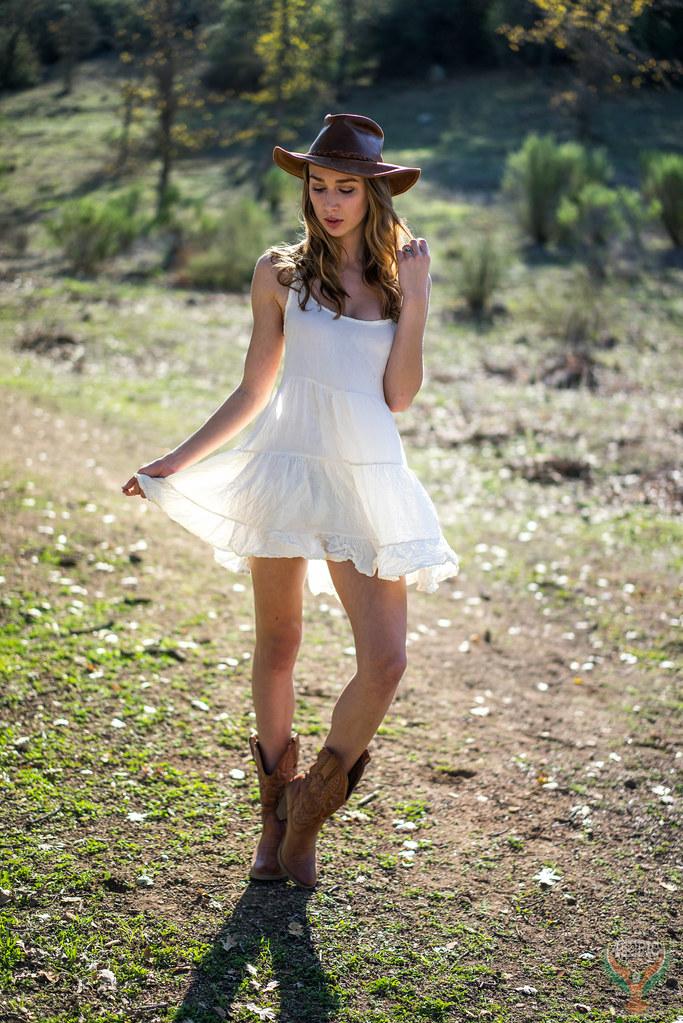 ad7a58d72c9 Pretty Green Eyes Athena! Beautiful Cowgirl Model Goddess Gold 45 Revolver  Cowboy Boots Cowboy Hat