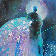 Sowing Star Seeds (Kerri Blackman) Tags: nightsky abstractfigure stars originalpainting mysticalart spiritual space angel