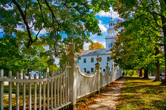 Old First Church and their picket fence (Earl Robicheaux Photography, LLC) Tags: autumn bennington fall northamerica oldfirstchurch unitedstatesofamerica vermont architecture belfry bluesky building categories church churchspire colonialmeetinghouse daylight democracy environment fallcolor government graveyard historic historical history important land landmark lantern old park religiousbuilding scenery seasons spire steeple sun sunlight sunshine tower town village weather white wood worldregionscountries yellowmapleleaves usa us