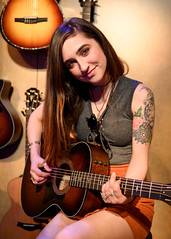 Zoe Zobrist 01/25/2019 #9 (jus10h) Tags: zoezobrist singer songwriter artist musician losangeles taylor guitar guitars namm show showroom 2019 justinhiguchi orange amplifiers