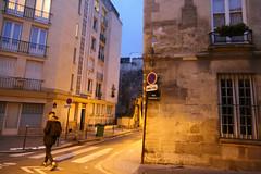 Rue Charles V - Paris (France) (Meteorry) Tags: europe france idf îledefrance paris spaceinvader spaceinvaders invader invaderwashere mur wall street rue art artderue pixels pa588 ruecharlesv reactivated reactivation morning matin crosswalk piéton homme guy male zebra corner december 2018 meteorry