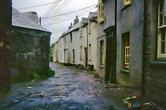 From my father's photos - Boscastle in the 60s (sootyskye) Tags: cornwall northcornwall boscastle lane road house cottage