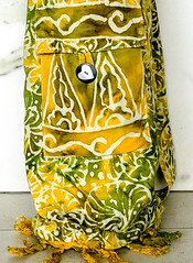Pocket Bag Warm Khaki.jpg (KIZEN THE LABEL) Tags: pocketbagwarmkhaki matbag yogamatbag madewithlove shellbutton kizen yoga balisarong flyinghearts khaki pilates yellow heart sarong