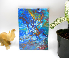 DSCN4091 (AfricanSand) Tags: acrylic pour paintings acrylicart pourpaintings acrylicpaintings homedecor officedecor stretchedcanvas blue flowart