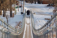 Breathless in SOURIS Mb.    Explored!  Thank YOU! (Jeannette Greaves) Tags: bridge swinging 2019 souris manitoba canada swingingbridge winter snow explore explored