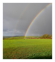 X marks the spot...Spade required. 17 (Phoenix Knight.) Tags: pembrokeshire wales november28th2017 rainbow potofgold robindemel