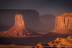 Desert Spotlighting (David Swindler (ActionPhotoTours.com)) Tags: arizona huntsmesa monumentvalley utah buttes dust duststorm spotlight