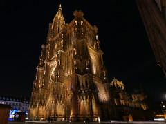 Straßburg, Münster 1 (GerhardQ) Tags: strasbourg strasburg kirche münster church cathedral nightshot bynight lumixg9 microfourthirds