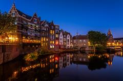 Blue Hour Café de Oude Sluis in Delfshaven (colin@thecranes.co.za) Tags: 2018 rotterdam reflections bluehour delfshaven cafédeoudesluis cityandarchitecture netherlands