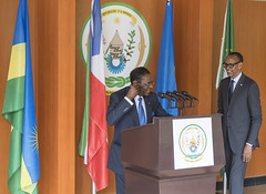 President Kagame and President Teodoro Obiang Nguema Mbasogo of Equatorial Guinea deliver press statements  | Kigali, 14 January 2019 (Paul Kagame) Tags: kagame teodoro obiang nguema mbasogo rwanda equatorial guinea