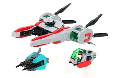 Magnetic Mediator (-soccerkid6) Tags: lego moc creation model starfighter build space scifi speeder magnetic docking bay missile launcher function play feature swoosh police ii spacejam brickbuilt vehicle ship