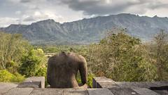 Borubudur (Hans van der Boom) Tags: vacation holiday asia indonesia indonesië java candi temple boribudur beheaded buddha statue landscape mountains range borubudur id