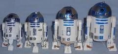 6 Inchish R2-D2s (Darth Ray) Tags: various 6 inchish size star wars r2d2 figures inch hasbro black series bandai model disney elite diecast destiny forces