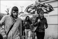 4_DSC4618 (dmitryzhkov) Tags: urban city everyday public place outdoor life human social stranger documentary photojournalism candid street dmitryryzhkov moscow russia streetphotography people man mankind humanity bw blackandwhite monochrome rain autumn badweather