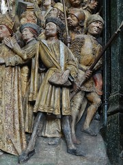 ca. 1490-1495 - 'Choir screen with scenes from the life of St. Fermin of Amiens', Cathédrale Notre-Dame, Amiens, dép. Somme, France (roelipilami (Roel Renmans)) Tags: koorafsluiting choir screen cloture 1490 1495 saint st fermin firmin firminius amiens holy gothic cathedral cathédrale kathedraal somme picardie picardy sculpture scenes life soldiers soldats soldaten arrest mail hauberk sallet fashion late clothing 15th century ca roel renmans