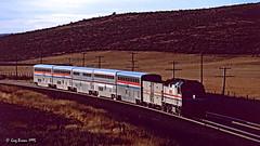 Sagebrush Sunrise (C.P. Kirkie) Tags: amtrak amtk pioneer amtrakpioneer unionpacific up easternoregon telocaset oregon superliner emd f40ph passengertrain trains railroads