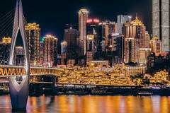 Chongqing (Symphonex) Tags: flickrtravelaward 500px travel 旅游 夜景 长曝光 洪崖洞 重庆 longexposure skyscraper architecture night citynight nightscape cityscape chongqing
