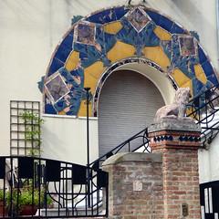 Venice Lido (graeme37) Tags: venice venezia lido mosaic brickwork wroughtiron curiosity