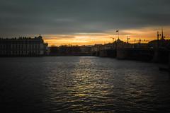 November light (rsvatox) Tags: saintpetersburg sunrise bridge river dark buildings cityscape colours architecture sunlight