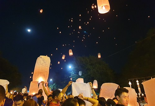 Third night of the Lantern festival in Chiang Mai